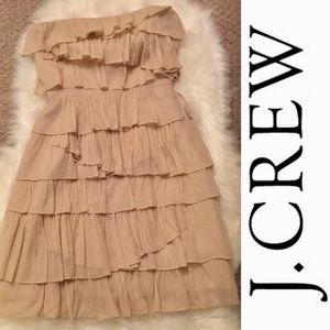 J. Crew Dresses - J.Crew Cream Silk Bodice Mini Dress - SZ: 2